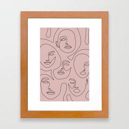 Blush Faces Framed Art Print