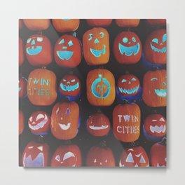 Jack O'Lanterns Metal Print