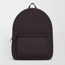 Solid Dark Charcoal Grey Color Backpack