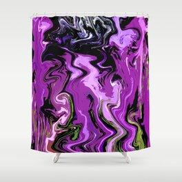 Faces in Flux Shower Curtain