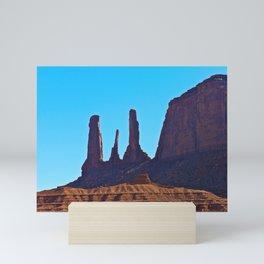 Blue Sky & Rock Mini Art Print