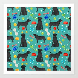 Black Lab dog toys cute dog breeds black labrador retriever gifts pet friendly Art Print