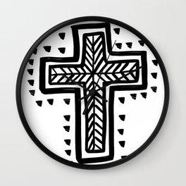 Gypsy Tribal Cross Wall Clock