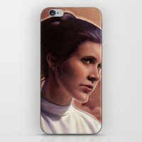 leia iPhone & iPod Skins featuring Leia by Jackie Sullivan