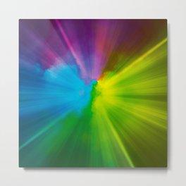 Color Burst Metal Print