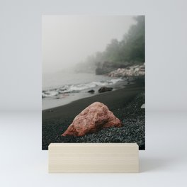 Black Beach Minnesota  | Nature and Landscape Photography Mini Art Print