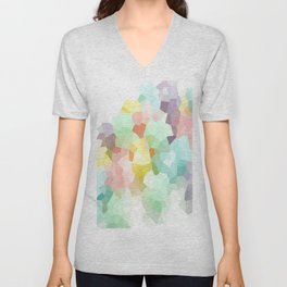 Pastel Abstract Unisex V-Neck