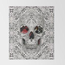 Lace Skull Light Throw Blanket