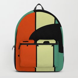 Seal In Retro Design With Graphic Motif Backpack