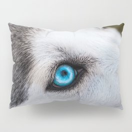 Siberian Husky Eyes (Color) Pillow Sham