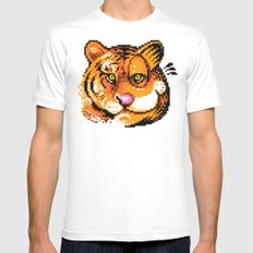 2 Tigers Mens Fitted Tee White MEDIUM