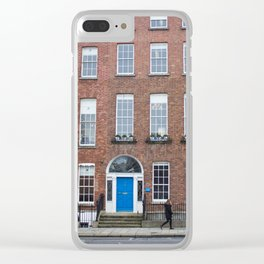 Colorful Doors in Dublin, Ireland Clear iPhone Case