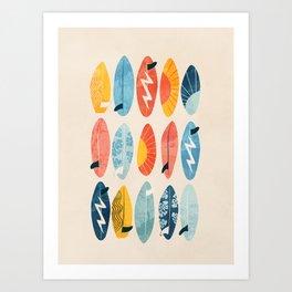 Surfboard white  Art Print