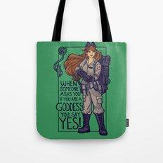 Ghostbuster Goddess Tote Bag