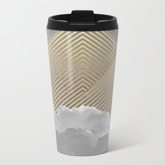 Silence is the Golden Mountain Metal Travel Mug