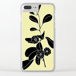 Goat's Foot (also known as Mauve Convolvulus, Beach Potato Vine, and Morning Glory) - Ipomoea pes-ca Clear iPhone Case