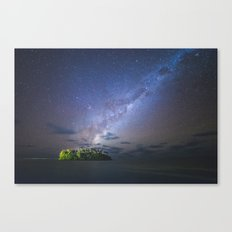 Starry night in the Cook Islands Canvas Print