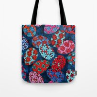 easter Tote Bags featuring Easter by Helene Michau