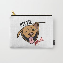 Red Pittie Mom Carry-All Pouch