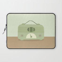 Vieja radio verde Laptop Sleeve