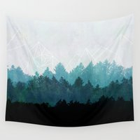 abstract Wall Tapestries featuring Woods Abstract  by Mareike Böhmer