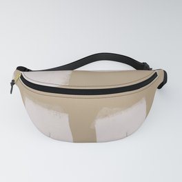 Taupe Block Print Fanny Pack