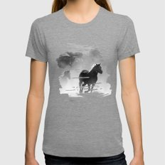 Wild SMALL Tri-Grey Womens Fitted Tee