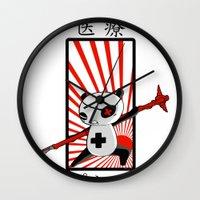 medical Wall Clocks featuring Medical Panda by PweT