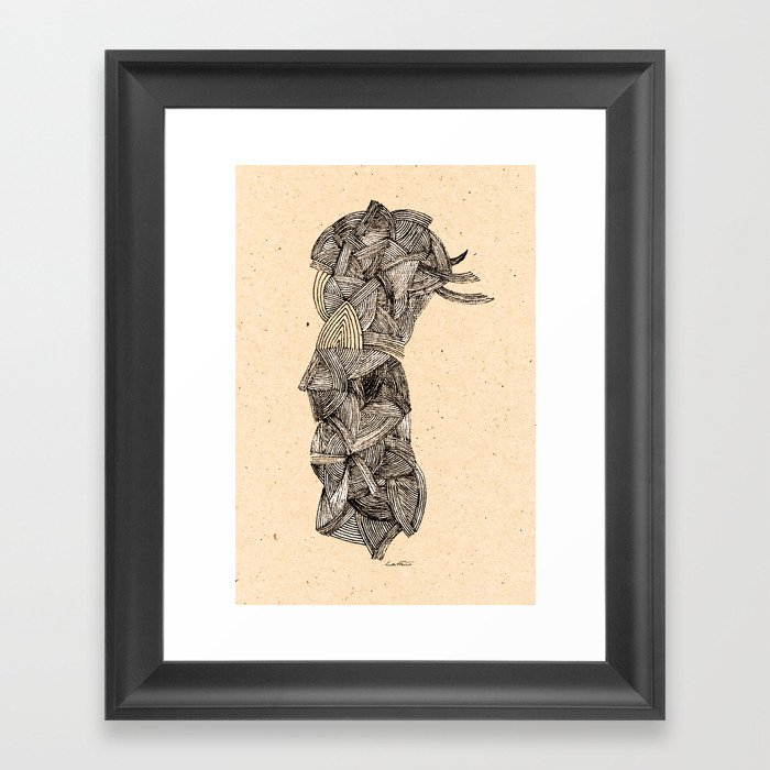 - old pen for souvenirs - Framed Art Print