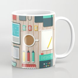 Graphic Designer's Workspace Coffee Mug