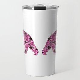 Geometric Fireweed Bear Cutout Travel Mug