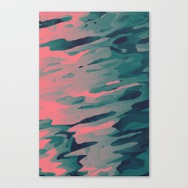 Red Cosmic Cheese Canvas Print