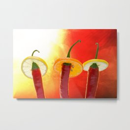 The Red, the Hot, the Chili Metal Print
