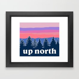 up north, pink hues Framed Art Print