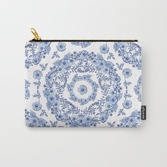 Blue Rhapsody on white Carry-All Pouch