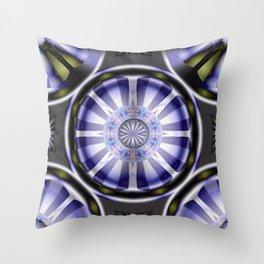 Pinwheel Hubcap in Purple Throw Pillow