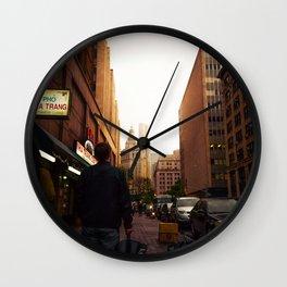 Manhattan Sunset Wall Clock