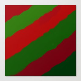 Red and Green Christmas Gift Canvas Print