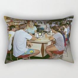 All Star Motel Coffee Shop in Wildwood, New Jersey. 1960's photograph Rectangular Pillow