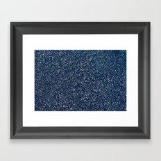 Black Sand II (Blue) Framed Art Print