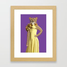 Lioness wearing Gucci Framed Art Print