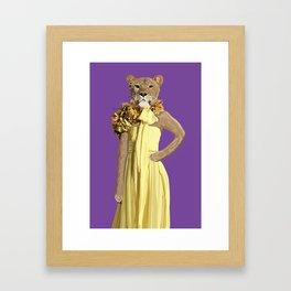 Lioness wearing Gucci Framed Art Print