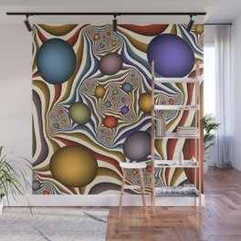 Flying Up, Colorful, Modern, Abstract Fractal Art Wall Mural