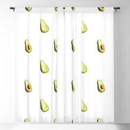 'ave an Avo! - White Print Blackout Curtain