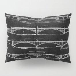 Washington Bridge Proposal Blueprint Pillow Sham
