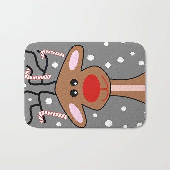 Happy Reindeer Bath Mat