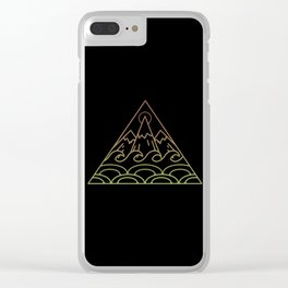 Traingle Of Nature Clear iPhone Case
