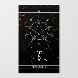A Tarot of Ink 10 of Pentacles Canvas Print