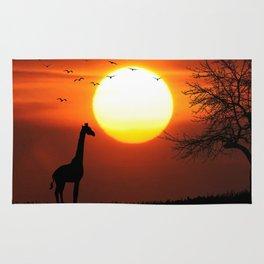 Giraffe sundown Rug