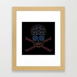 Marine Creatures Skull Framed Art Print